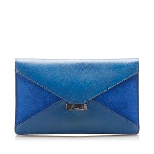 Celine Clutch blue leather