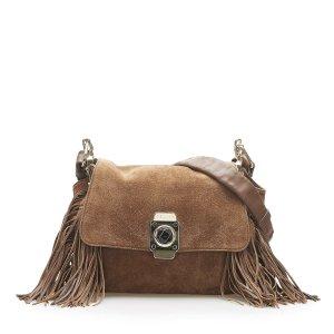 Celine Crossbody bag brown suede