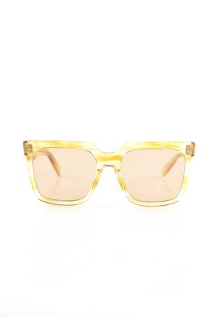 Celine eckige Sonnenbrille blassgelb Farbverlauf Casual-Look