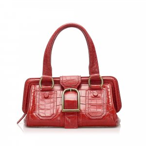 Celine Handbag red leather