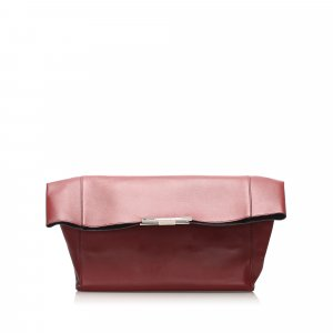 Celine Clutch bordeaux leather