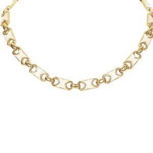Celine Gold Tone Chain Necklace
