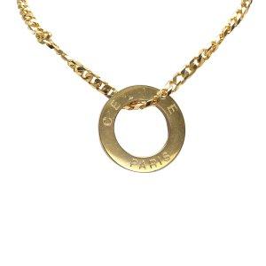 Celine Gold-Tone Pendant Necklace