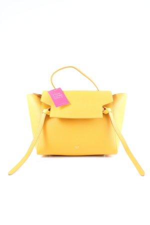 Celine Handtasche dunkelgelb-goldorange Business-Look