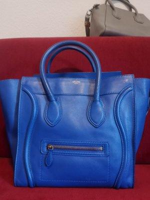 Celine Handtasche leder blau