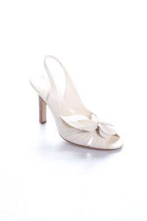 Celine High Heel Sandaletten creme Dekoelemente