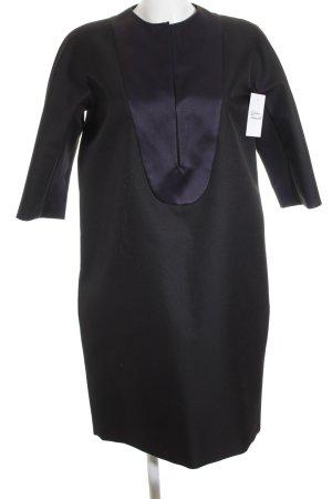 Celine Langarmkleid schwarz-dunkelblau Elegant