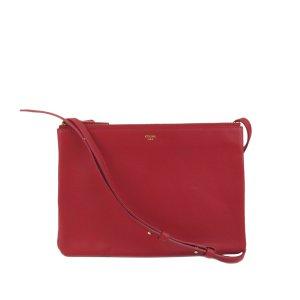 Celine Crossbody bag red leather
