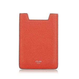 Celine Porte-cartes rouge cuir
