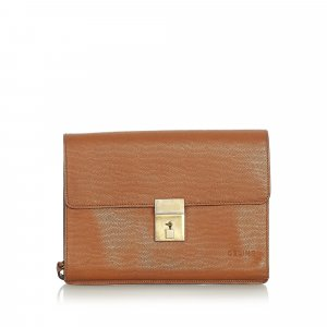 Celine Clutch brown leather