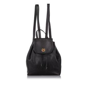 Celine Backpack black leather