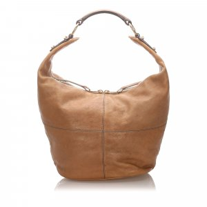Celine Hobos beige leather