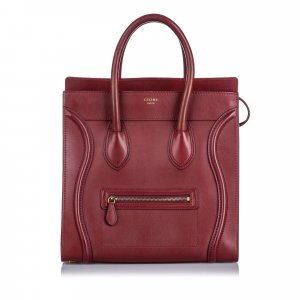 Celine Leather Luggage Handbag