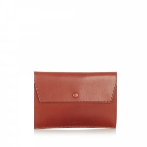 Celine Pouch Bag brown leather