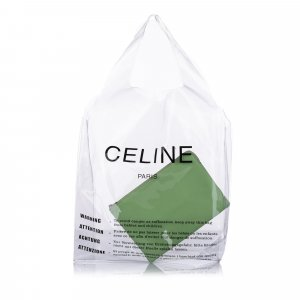 Celine Pouch Bag green leather