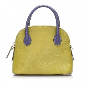 Celine Satchel yellow leather