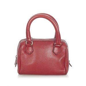 Celine Satchel red leather