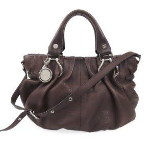 Celine Satchel brown leather