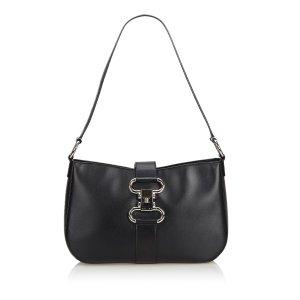 Celine Shoulder Bag black leather