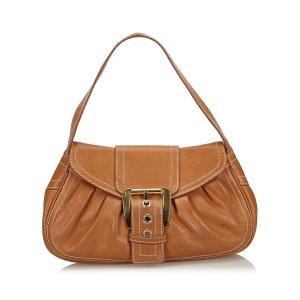 Celine Shoulder Bag brown leather