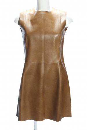 Celine Lederkleid bronzefarben Elegant