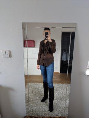 Celine Leinen Bluse mit Raffungen