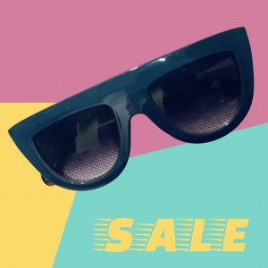 Unbekannte Marke Oval Sunglasses brown-blue