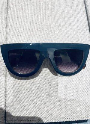 Unbekannte Marke Owalne okulary przeciwsłoneczne brązowy-niebieski