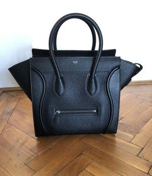 Celine Carry Bag black leather