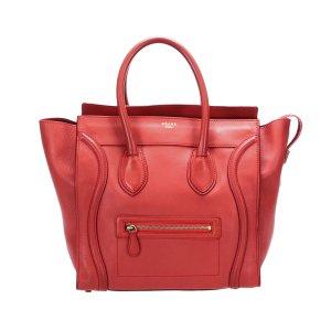 Celine Luggage Leather Tote Bag