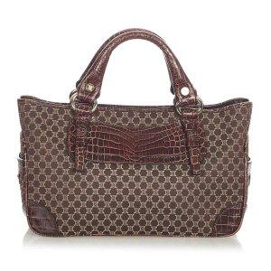 Celine Macadam Boogie Canvas Handbag