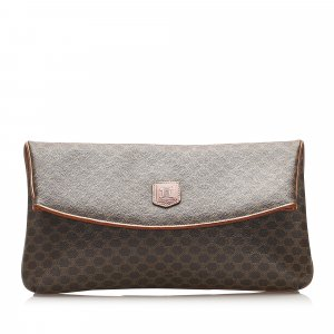 Celine Macadam Coated Canvas Clutch Bag