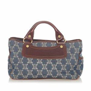 Celine Handbag blue cotton