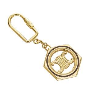 Celine Macadam Gold-Tone Key Chain