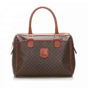Celine Handbag dark brown polyvinyl chloride