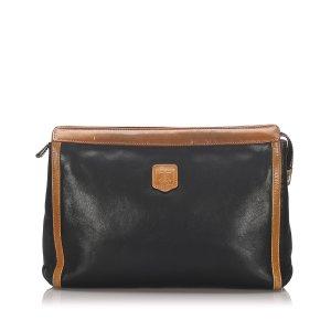 Celine Macadam Leather Clutch Bag