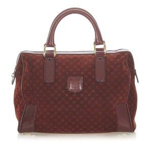 Celine Macadam Suede Boston Bag