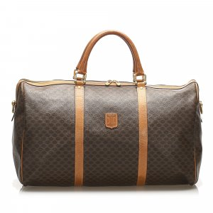Celine Travel Bag dark brown