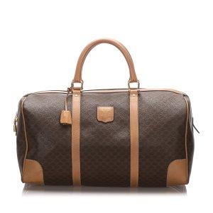 Celine Travel Bag brown polyvinyl chloride