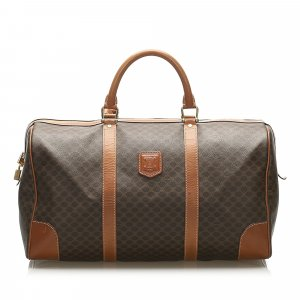 Celine Travel Bag brown polyvinyl chloride