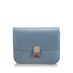 Celine Shoulder Bag light blue leather