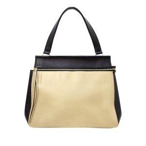 Celine Medium Edge Bicolor Leather Handbag