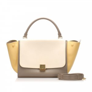 Celine Medium Tricolor Trapeze Leather Satchel