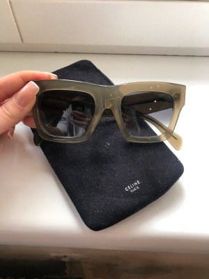 Celine Angular Shaped Sunglasses green grey-silver-colored synthetic material