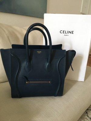 Celine Handbag dark blue-petrol