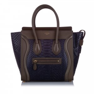 Celine Mini Luggage Python Tote Bag