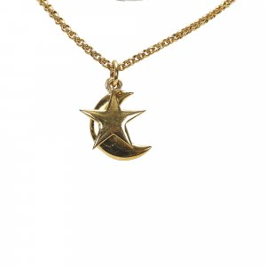 Celine Moon And Star Pendant Necklace