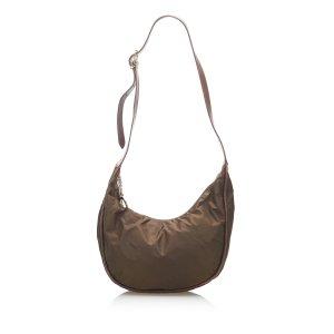 Celine Crossbody bag dark brown nylon