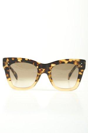 Celine Paris Okulary motylki czarny-złoto Na całej powierzchni W stylu casual
