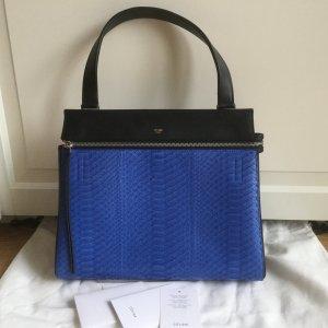 Celine Paris Edge Python Tasche in Blau und schwarz